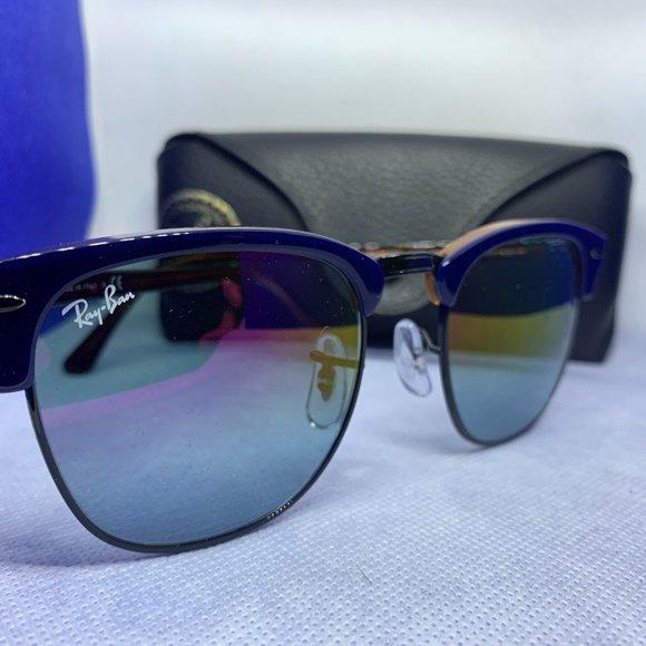 Ray Ban Sunglasses RB 1278T6 51 Blue,Tortoise   Blue/Pink Gradient Mirror